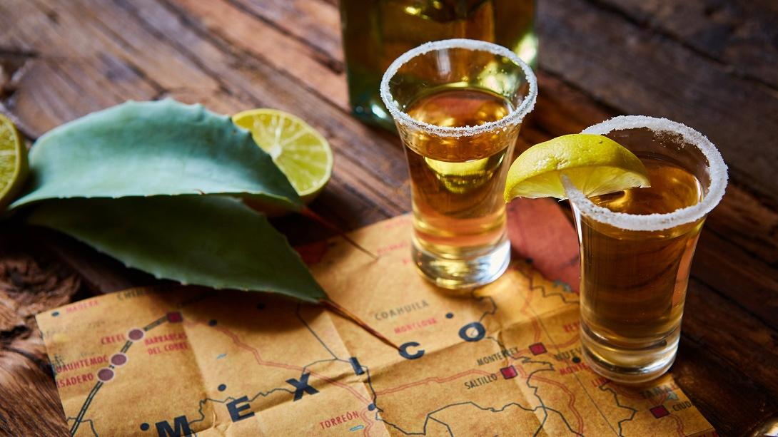 Travellers enjoy a tequila tasting as part of their Discovery Tour in Mexico.
